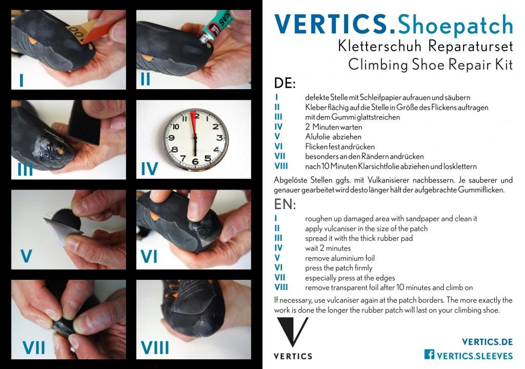 VERTICS Shoepatch Klettershuh Reparaturset